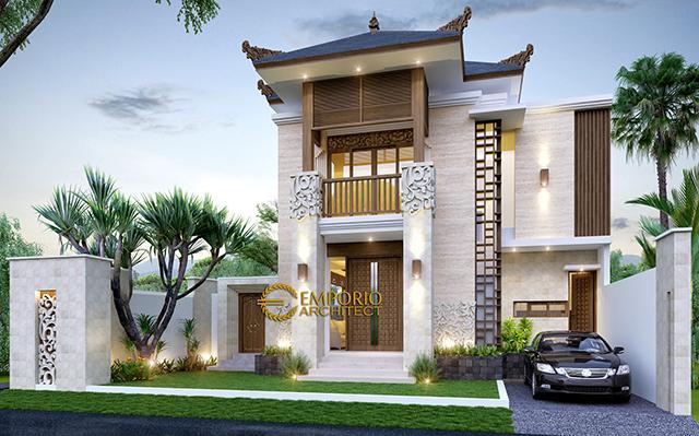 Mrs. Fitri Villa Bali House 2 Floors Design - Bandung