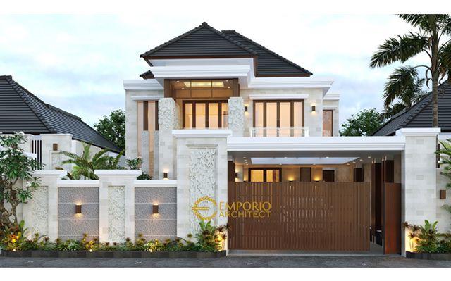 Desain Rumah Villa Bali 2 Lantai Ibu Sulistya di  Pekanbaru, Riau