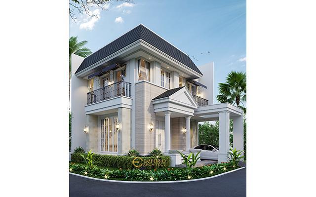 Desain Rumah Hook Classic 2 Lantai Bapak Oscar di  Tangerang, Banten