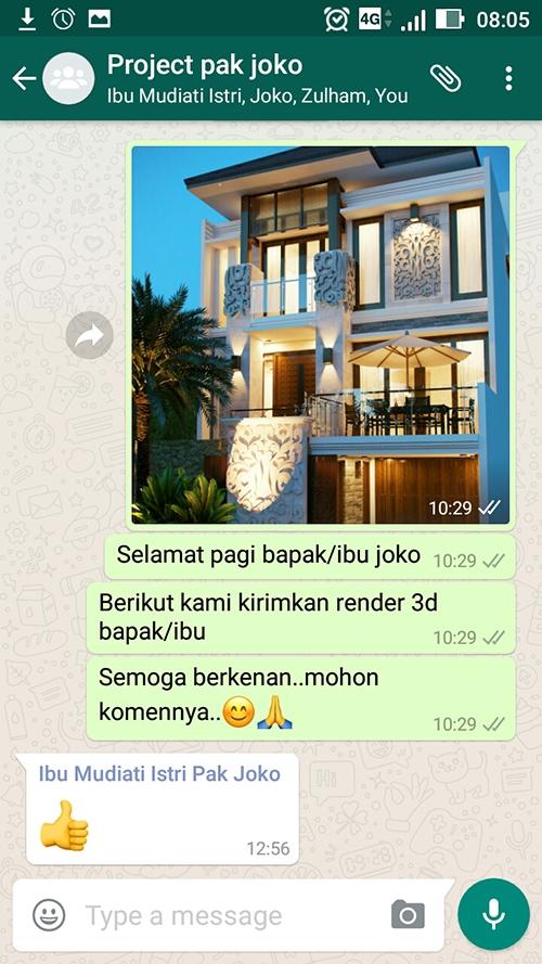 Testimonial Desain Rumah Villa Bali 3 Lantai Bapak Joko