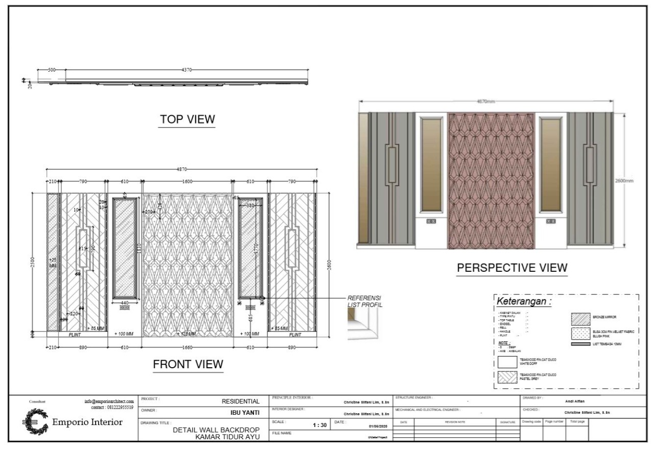 Technical Drawing and Furniture Details