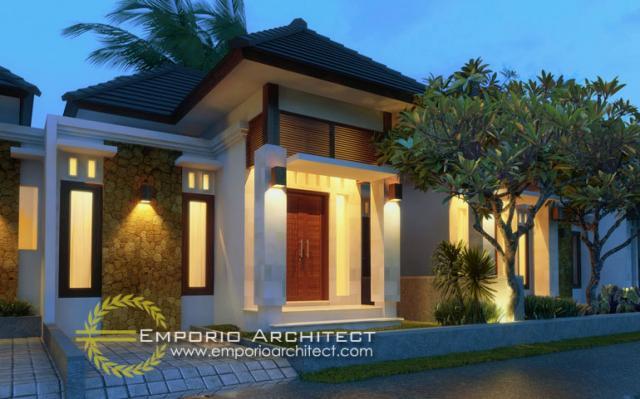 Desain Exterior Bali Bagus Residence Style Villa Bali 1 Lantai di Bandung