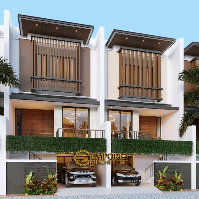 Desain Tampak Depan 1 Cluster Modern 3 Lantai Royale Indah Kapuk Cengkareng di Jakarta Barat