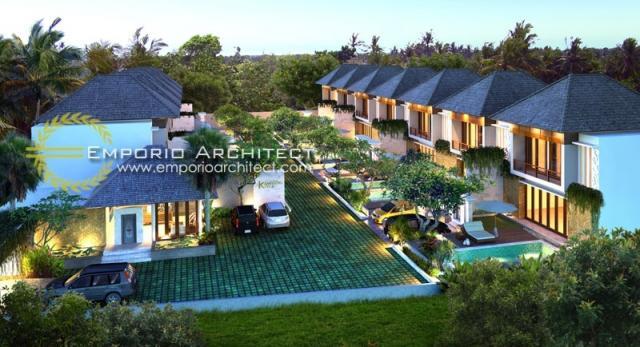 Desain Kampoeng Villas Style Villa Bali 2 Lantai di Kerobokan, Bali