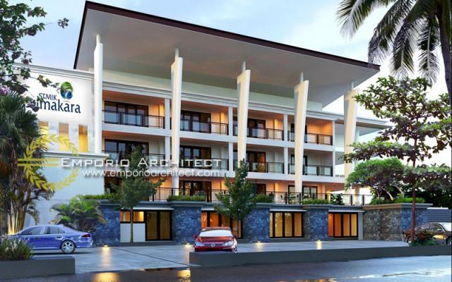 Desain Exterior 1 Kampus Modern 4 Lantai Primakara School di Bali