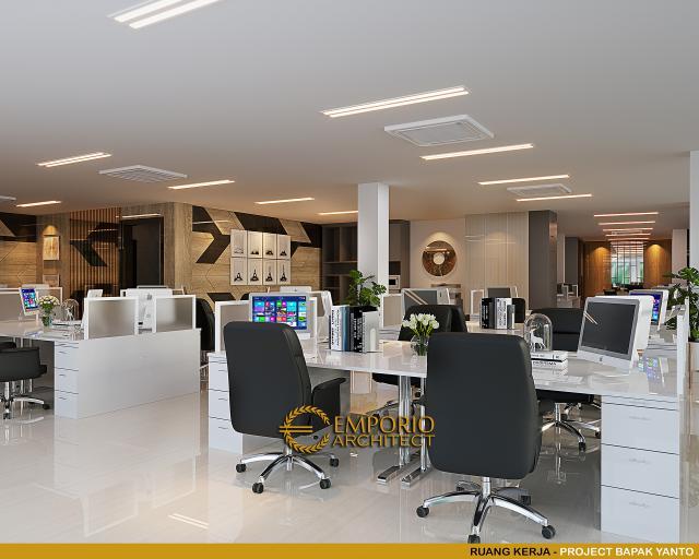 Desain Ruang Kerja Kantor Modern 5 Lantai Bapak Yanto di Jakarta