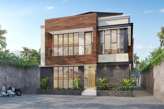 Desain Tampak Belakang 1 Klinik Mitra Santosa Modern 2 Lantai di Bandung, Jawa Barat