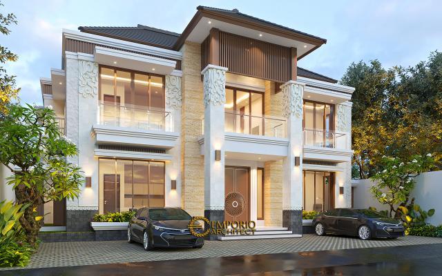 Desain Tampak Depan 2 Kost Villa Bali 2 Lantai Ibu Olive di Bali