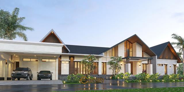 Desain Tampak Depan 2 Private Villa Lapaggalung Petta PajJawae Villa Bapak Andi Entong di Makassar, Sulawesi Selatan