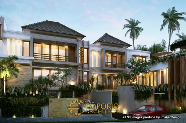 Desain Exterior 2 Magghali Residence Style Villa Bali 2 Lantai di Tabanan, Bali
