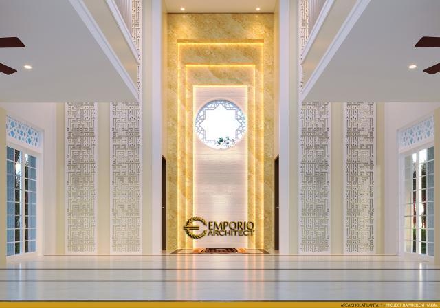 Desain Area Sholat 1 Masjid Classic 2 Lantai Riyadhuul Ulum di Jakarta