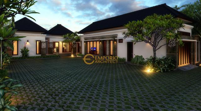 Desain Exterior Rumah Villa Bali 1 Lantai Bapak Made Wardana di Denpasar, Bali