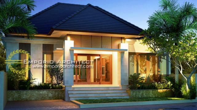 Desain Exterior 1 Rumah Villa Bali 1 Lantai Bapak Basuki di Lombok