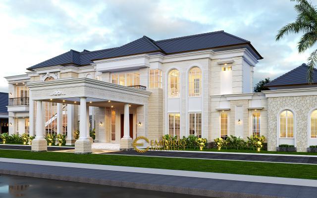 Mr. HJ Classic House 2 Floors, Office, and Pavilion Design - Manado, Sulawesi Utara