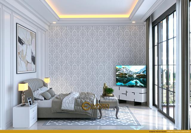 Desain Kamar Tidur Anak Rumah Classic 2 Lantai Bapak Hartowo di Balikpapan, Kalimantan Timur