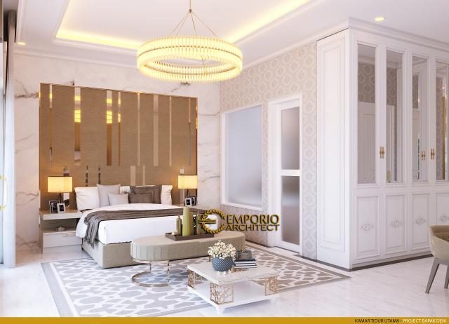 Desain Kamar Tidur Utama Rumah Classic 2 Lantai Bapak Deni III di Karawang, Jawa Barat