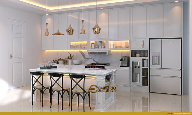 Desain Dapur Rumah Classic 2 Lantai Bapak Ridwan di Bandung, Jawa Barat
