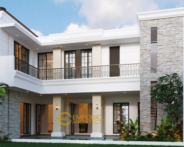 Desain Rumah Classic 2 Lantai Bapak Adit Brata III di Jakarta