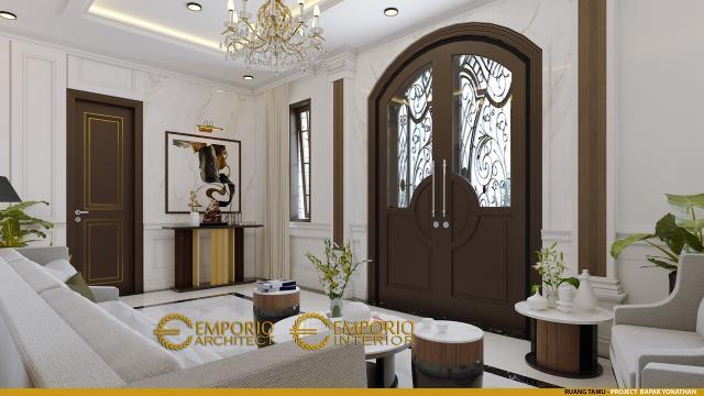 Desain Ruang Tamu Rumah Classic 3 Lantai Bapak Yonathan di Solo (Surakarta), Jawa Tengah
