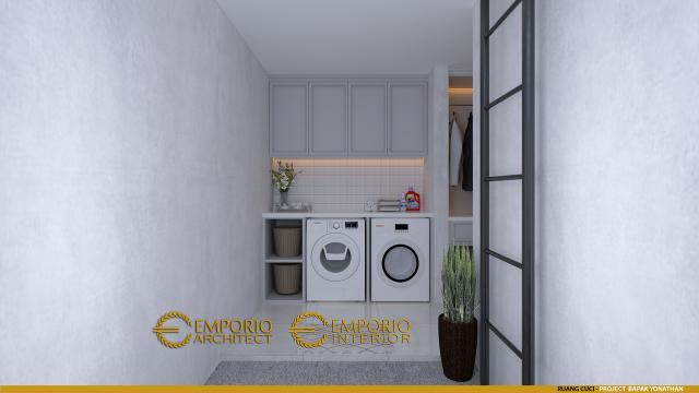 Desain Ruang Cuci (Laundry) Rumah Classic 3 Lantai Bapak Yonathan di Solo (Surakarta), Jawa Tengah
