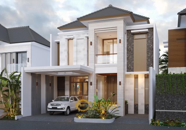 Desain Rumah Modern 2 Lantai Ibu Wenny di Jakarta