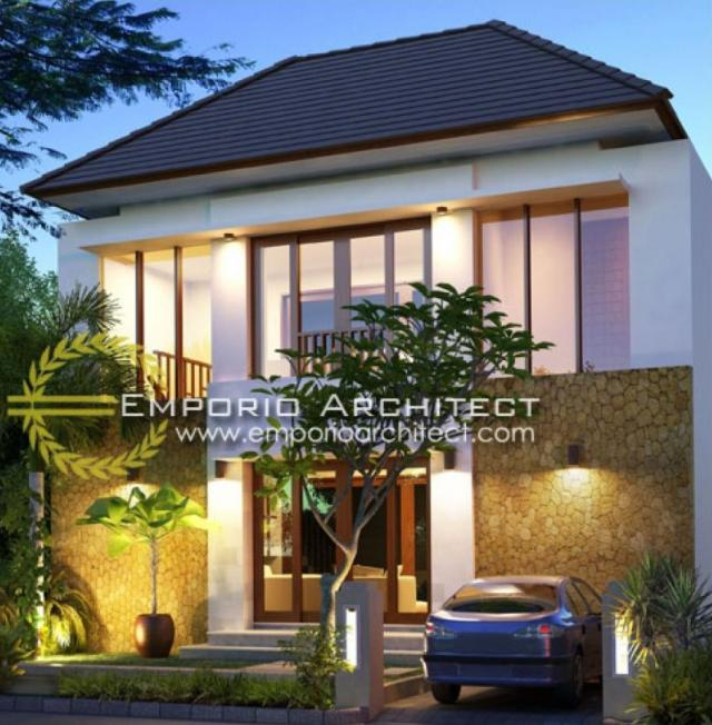 Desain Exterior 1 Rumah Villa Bali 2 Lantai Bapak Dewa di Badung,Bali