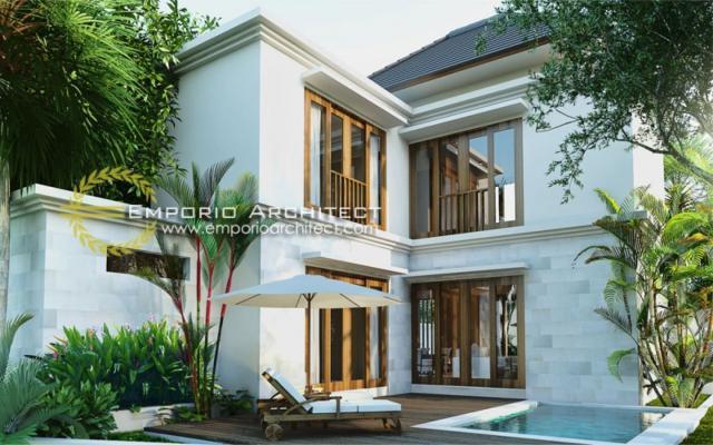 Desain Exterior 2 Rumah Villa Bali 2 Lantai Ibu Fenti di Ubud, Bali