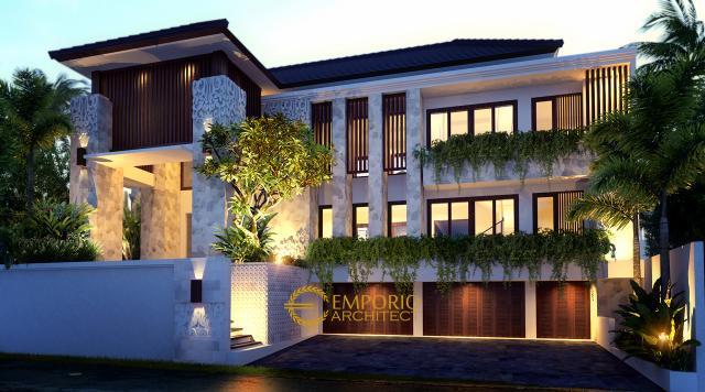 Desain Rumah Villa Bali 2 Lantai Ibu Atik Lawrence di Jakarta di Jakarta