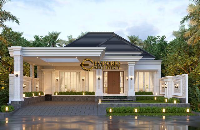 Desain Tampak Depan 3 Rumah Klasik 1 Lantai Bapak Irman di Bacan, Maluku