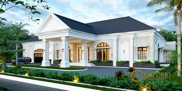 Desain Rumah Klasik 1 Lantai Bapak Thomas di Halmahera, Maluku Utara - Tampak Depan