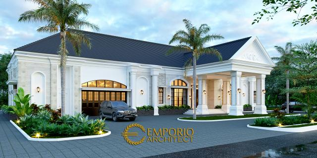 Desain Tampak Depan 2 Rumah Klasik 1 Lantai Bapak Thomas di Halmahera, Maluku Utara