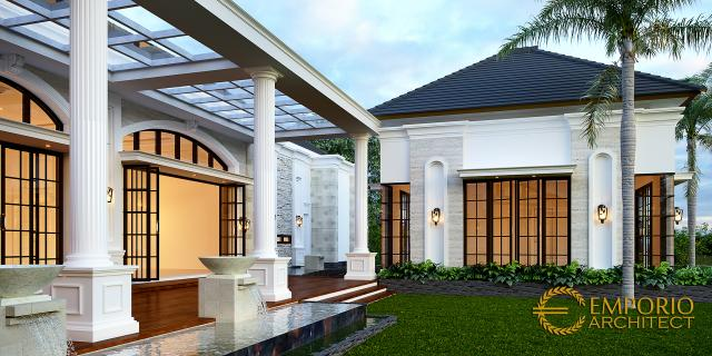 Desain Tampak Detail Belakang Rumah Klasik 1 Lantai Bapak Thomas di Halmahera, Maluku Utara