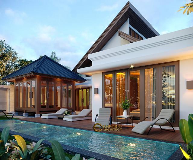 Desain Tampak Belakang 3 Rumah Modern 1 Lantai Ibu Fatima di Dili, Timor Leste