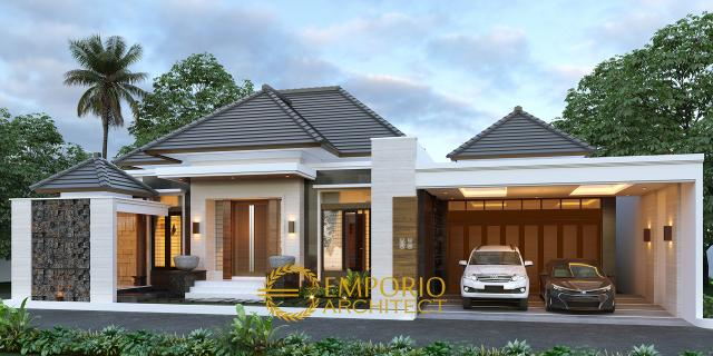 Desain Tampak Depan Tanpa Pagar Rumah Modern 1 Lantai Bapak Rofi di Medan, Sumatera Utara