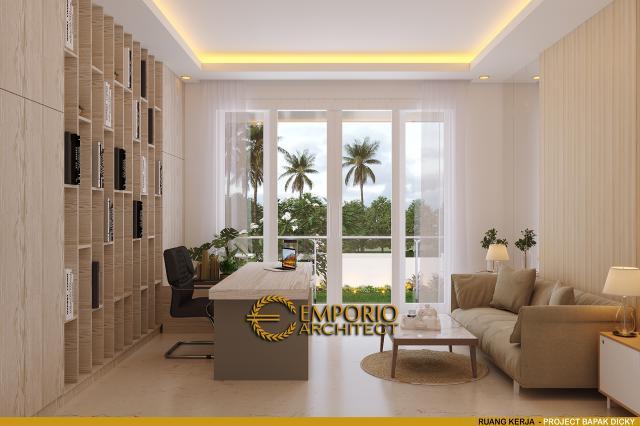Desain Ruang Kerja Rumah Modern 2 Lantai Bapak Dicky di Palu, Sulawesi Tengah