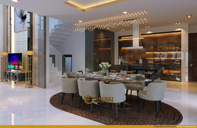 Desain Ruang Makan dan Dapur Rumah Modern 2 Lantai Bapak Eruwin di Tanjung Pinang, Kepulauan Riau