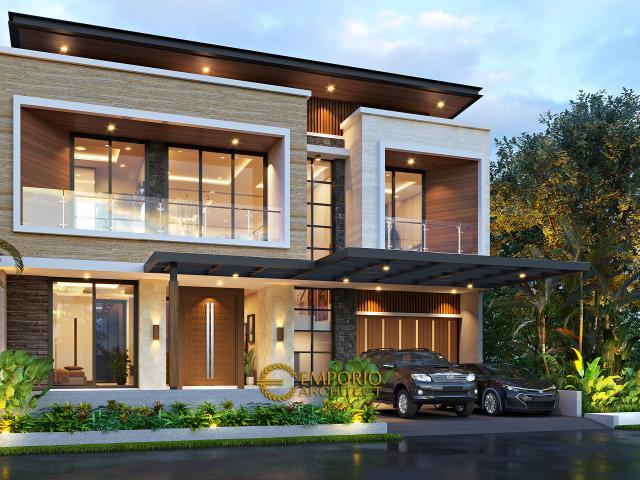 Mrs. Syeni Modern House 2 Floors Design - Alam Sutera, Tangerang Selatan, Banten