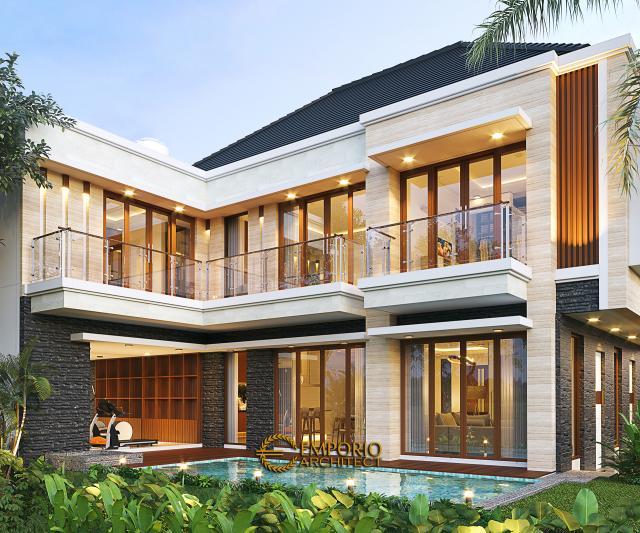 Desain Tampak Belakang Rumah Modern 2 Lantai Bapak Fredi di Solo (Surakarta), Jawa Tengah