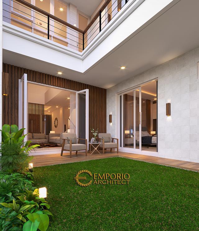 Desain Tampak Detail Belakang Rumah Modern 2 Lantai Bapak Antonius di Bekasi, Jawa Barat
