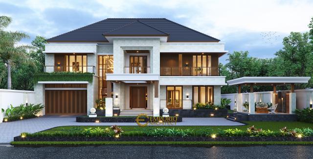 Desain Tampak Depan 3 Rumah Modern 2 Lantai Bapak Pamungkas di Semarang, Jawa Tengah