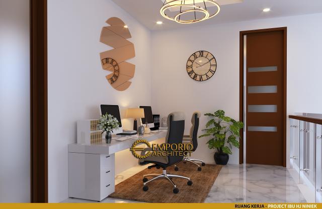 Desain Ruang Kerja Rumah Modern 2 Lantai Ibu Hj. Niniek di Palembang, Sumatera Selatan