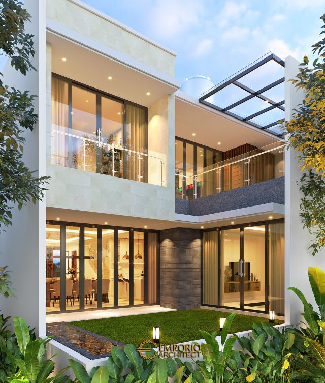 Desain Tampak Belakang Rumah Modern 2 Lantai Bapak Daniel di Jakarta Timur