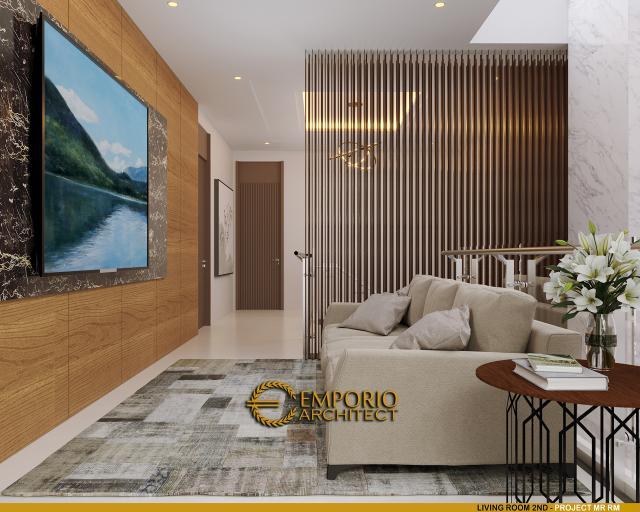 Desain Ruang Keluarga Lantai 2 Rumah Modern 2 Lantai Bapak RM di Bogor, Jawa Barat