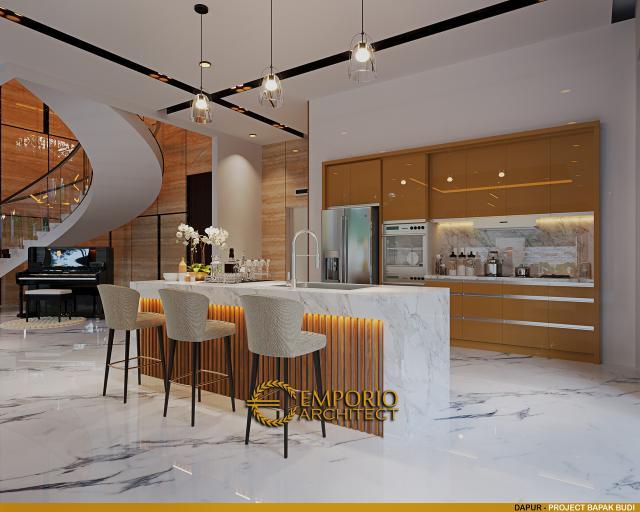 Desain Dapur Rumah Modern 2.5 Lantai Bapak Budi di Jakarta Timur