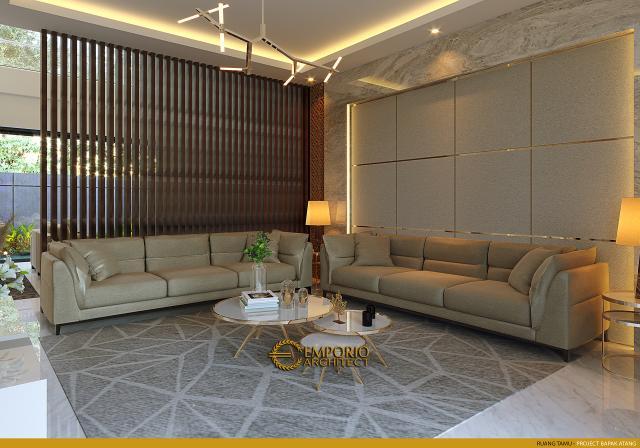 Desain Ruang Tamu Rumah Modern 2.5 Lantai Bapak Atang di Bandung, Jawa Barat