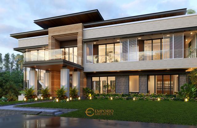 Desain Tampak Samping Rumah Modern 3 Lantai Bapak Rusdi di Padang, Sumatera Barat