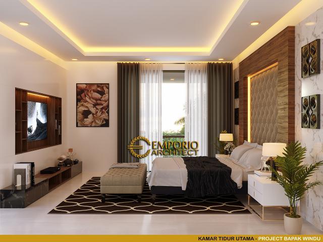 Desain Kamar Tidur Utama Rumah Modern 3 Lantai Bapak Windu di Bintaro, Jakarta Selatan