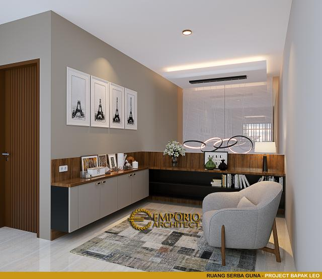 Desain Ruang Serba Guna Rumah Modern 3 Lantai Bapak Leo di Jakarta Utara