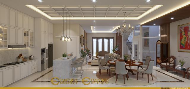 Desain Ruang Makan Rumah Modern 3 Lantai Bapak Armanto di Jakarta Utara