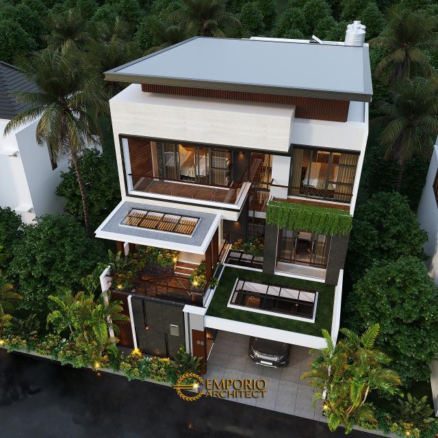 Desain Master Plan Rumah Modern 3 Lantai Bapak Budi di Jakarta Utara